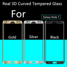 Wholesale 0 MM Galaxy Note S6 edge S7 Edge Full Screen Tempered Glass S6 edge Plus Cover Curved Screen Protector With Retail Box