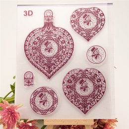 Wholesale 3D Snowman Xmas Bell Transparent Clear Silicone Stamp Seal Sheets DIY Kids Gifts Diary Scrapbooking Card Photo Album Decoration