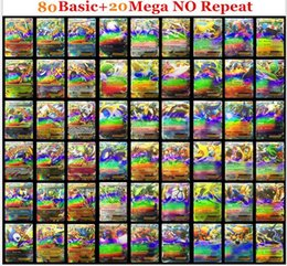 Wholesale Poke Card Poke TCG CARD RARE COM UNC HOLO GUARANTEED EX MEGA OR FULL ART