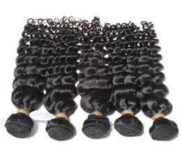 Indian Human Hair Deep Wave Hair Weave 8A Quality 100% Without Chemical Processed Natural Color 8-30inch In Stock 3pcs lot