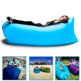 Wholesale 9 Colors Fast Infaltable Sleep Bag Seconds Quick Open Lazy Sleeping Bed Lamzac Kaisr Folding Sofa Beach Sleep Bed