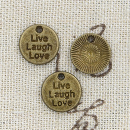 120pcs Charms live laugh love 12mm Antique Making pendant fit,Vintage Tibetan Bronze,DIY bracelet necklace