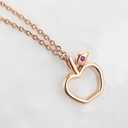 Kingco Brand Hot Sale 18K Gold Apple Shape Pendant For Teen Girls With Ruby Jewelry DC0130
