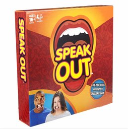 Wholesale Speak Out Game KTV party game cards for party Christmas gift newest best selling toy hot