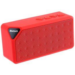 Promotion boîte de haut-parleur de radio X3 Mini Haut-parleur Bluetooth TF USB FM Radio Haut-parleur sans fil portable Sound Box Subwoofer avec micro pour iOS Android + B