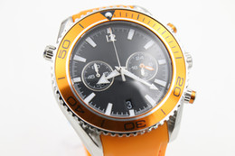 fashion watch men quartz chronograph Professional orange rubber belts waches Co-Axial planet ocean sea master watches men dive wristwatches