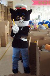 Wholesale Black cat sheriff Costumes cartoon garment animated Mascot clothing mascot