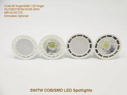 Wholesale SMD LED Spotlight W W GU10 MR16 Spotlight LED Bulbs Best Selling E26 E27 AC110V AC220V DC12V LED Spotlight Lamp for Commercial Lighting