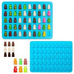 Wholesale 50 Cavity Silicone Bear Shape Baking Ice Cube Tray Candy Chocolate Molds Making Gummy