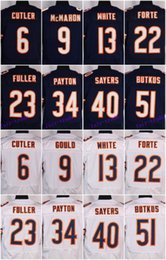 Wholesale 2016 Chicago football jersey Bears Soccer rugby jerseys Forte Jeffery Ditka Navy Blue Alternate White freeshipping