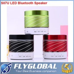 Wholesale S07U S08u Model Bluetooth Speakers Subwoofer Support LED Flash calls Mobile phones tablet PC TF card FM fee shipping best quality