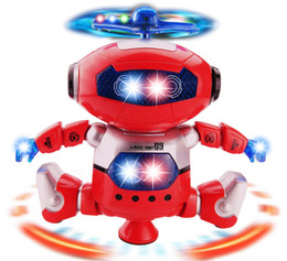 Wholesale Robot Toy Rotating Dancer Robot Musical Walk Lighten Electronic Toy Robot Christmas Birthday Gift Toy For Child Kid Boy