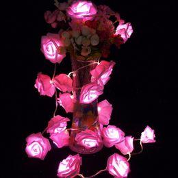 Wholesale Garland set Rose Flower Fairy luces decorativas string lights guirlande lumineuse LED Garden Party Decoration