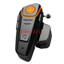 Descuento venta caliente de la motocicleta Venta caliente 1000M Intercomunicador de la motocicleta sin hilos del auricular del auricular del auricular del interphone de Bluetooth para el teléfono móvil MP3 GPS