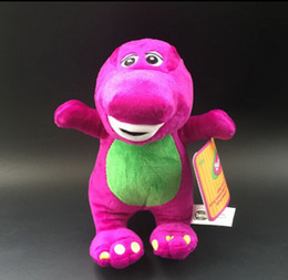 Wholesale Cute Barney the Dinosaur Plush Toy TV Cartoon Soft Dolls Toy baby toy Kids Children s day Birthday Gifts1pcs A2