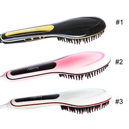 100% Original NASV Comb Beautiful Star NASV Hair Straightener Flat Iron Hair iron Straightening Brush Hair Styling Tool comb With LCD