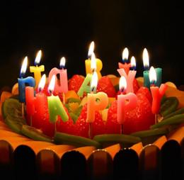 Velas de cumpleaños barcos en Línea-Feliz cumpleaños Arte niños vela del regalo de mini velas de cumpleaños ambiente exótico decoratiions fuente Valentine 'regalo del día del envío libre de JF-32