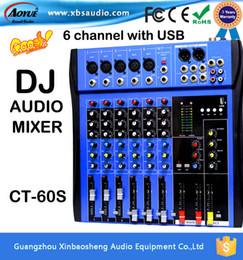 Wholesale 2016 Hot Sales high power Professional digital mixer audio with Channels USB dj mixer CT S