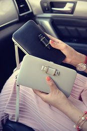 Factory wholesale new 2016 boxes bow tie purse Lady long clutch bag Korean creative mobile phone packages