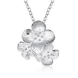 New Brand Designer Vintage Necklace Jewellery For Ladies 925 Sterling Silver Daisy Pendants Necklaces Wedding Jewelry Party Gifts