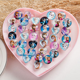 Wholesale Beautiful Ring Snow Princess Elsa Anna Children Finger Toys Metal and Plastic Material with Original Box Best gift