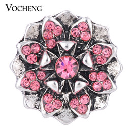 Wholesale VOCHENG NOOSA Flower Snap Jewelry Colors Inlaid Crystal mm Vintage Button Vn