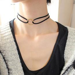 2017 les brunes Collier de double couche de femmes de nouvelles arrivées 3 collier de boucles d'oreilles de chaîne de velours pour les dames Bijoux de mode noir / blanc / les brunes sortie