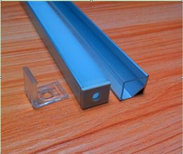 Free Shipping New 6.6ft Aluminum Extruded Profile Channel U Shape Housing with Frosted Cover,end Caps,mounting Clips for LED Strip Light