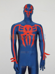 Spiderman 2099 Costume Navy Blue Spandex Adults and Kids Superhero Costume spiderman fullbody zentai suit