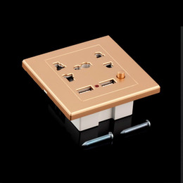 Wholesale In stock pc Dual USB Electric Wall Charger Station Socket Adapter Power Outlet Switch Panel Newest