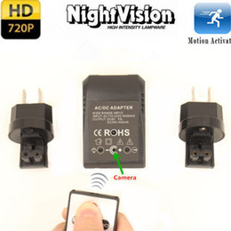 Wholesale F HD P Night Vision Spy Camera Adapter US EU Plug Hidden Camera Motion Detection Recorder While Charging Mini DVR
