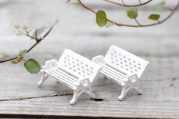Wholesale 100lots Bench Chair Small Fairy Garden Decoration Miniatures Glass Ball Terrarium Figurine Moss Zakka Resin Craft Ornaments jy501