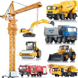 Wholesale Alloy engineering car models toy car mining machine dump car mixer truck car model