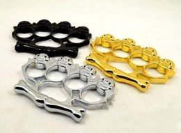 Wholesale 1 Big head ghost THICK CHROMED STEEL BRASS KNUCKLES KNUCKLE DUSTER self defense equipment