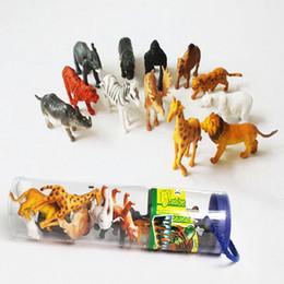 MX1009 Small Simulation Farm animal model toy emulational wild animal Learning & Education Toys Wholesale 12pcs set