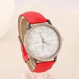 Wholesale 2016 Lowest price Stylish Unisex Quartz Watches Men Sports Watches Denim Fabric Women Dress wristwatch news paper