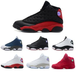 High Quality 13s Mens Basketball Shoes Leather 13s Black Toe 13s Bred Navy Game Grey Toe Flint Grey Sneakers With Box