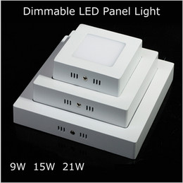 Hot Sale 9W 15W 21W High Efficiency Square Led Panel Light  Led Light Cool White Warm With Dimmable Led Ceiling Light