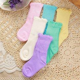 Wholesale Baby Kids Bamboo Fiber Spring Autumnn Flower Edge Socks Years Old Girls Boys Socks Walking Children Socks Clothing Colors
