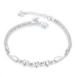 Wholesale China Charms Suppliers - Bracelets For Women Stylish H365 Charming China Supplier Love Forever 925 Silver Bracelet Kolye Anime Orologio Uomo H365