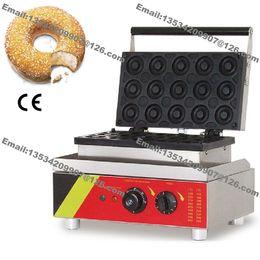 Wholesale Commercial Use Non stick v v Electric cm Mini Ring Doughnuts Donut Maker Baker Machine Iron Mold
