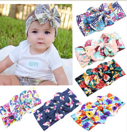 2016 Infant baby Headbands Floral Ornament bows Hair Band flower Bandeau Turban Head Band kids Girls Hair Accessories