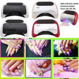 Wholesale Led UV lamp for nail Polish Gel w fast dry Curing Nail tools with automatic hand sensor EU AU US UK plug