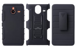 Hybrid Hard Case for Nokia 640 650 Armor Impact Case Cover Belt Clip Holster Kickstand Combo Case