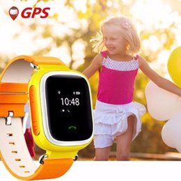 Descuento dispositivo de niño perdido 2016 del GPS del cabrito mira el reloj inteligente de llamadas SOS perseguidor de la localización del dispositivo de seguridad para niños anti perdida Monitor para el regalo del bebé