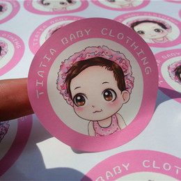 Wholesale Free design Custom Self adhesive colorful paper sticker printing personal round label printed