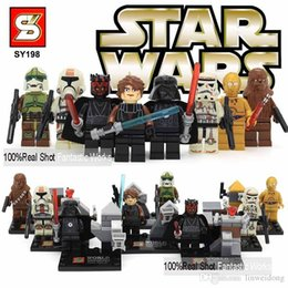 Star Wars Figures SY198 Star Wars Action Figures Toys with Star Wars Lightsaber Building Blocks Brick Star Wars Toys Minifigures