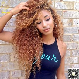 2016 Brazilian Kinky Curly Human Hair Full Lace Wigs Glueless Lace Front Human Hair Wig Curls With Bleached Knots Baby Hair