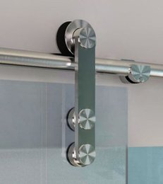 Wholesale Stainless Steel Glass Sliding Barn Door Hardware Track Set