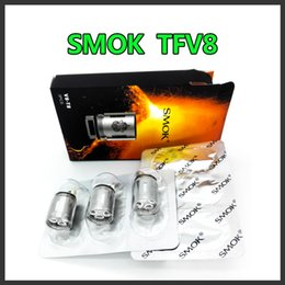 Wholesale 2016 Smok TFV8 Atomizer Top refilling Smoktech ml TFV8 Cloud Beast Tank With V8 T8 V8 Q4 Coil Head Best Updated TFV4 Tank